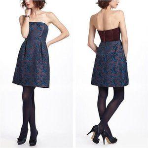 Anthropologie Leifnotes Paprika Brocade Dress 6P